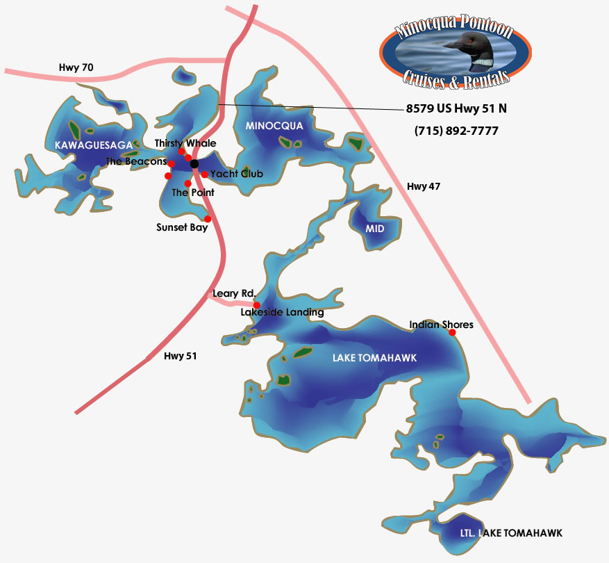Minocqua Pontoon Cruises Location